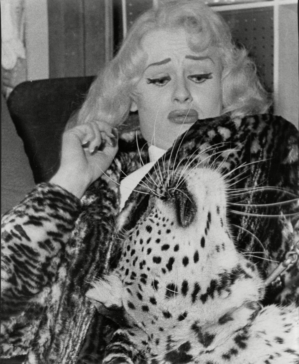 Sabrina (norma Ann Sykes) With Chico The Cuddly Leopard And London Airport 2 Mar 1958