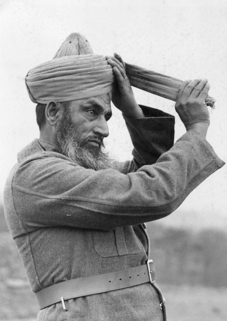 circa 1940: An Indian member of the Indian Army Services Corps, some of whom were evacuated from Dunkirk together with the British Expeditionary Force. (Photo by Fred Ramage/Keystone/Getty Images)
