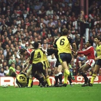 On This Day In Photos: Manchester United And Arsenal Fight