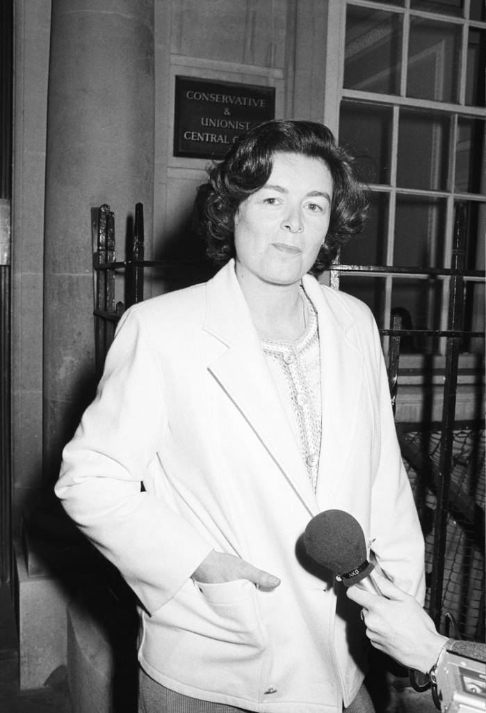 Sara Keays, the former mistress and personal secretary of British Conservative politician Cecil Parkinson, 28th November 1984. (Photo by Tom Smith/Express Newspapers/Getty Images)