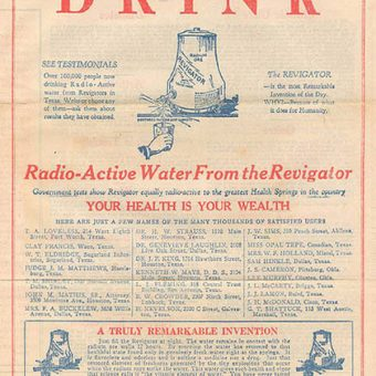 Vintage Produce Of The Day: Cure All Radium (Butter, Baths And Drinking Water)