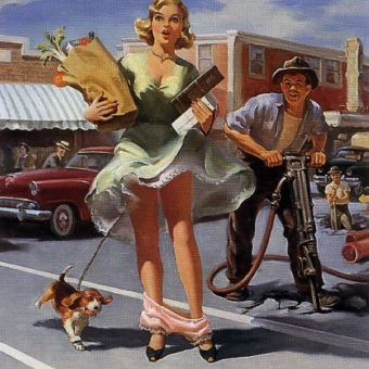 Art Frahm : Fallen Knickers, Women And Celery (1950s)