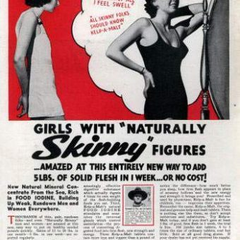 Vintage weight-gain adverts – when fat was fulfilling