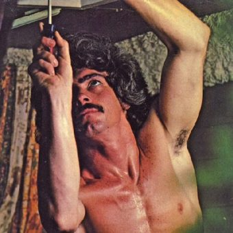 1970s man according to Playgirl – comical photos of men being sexy