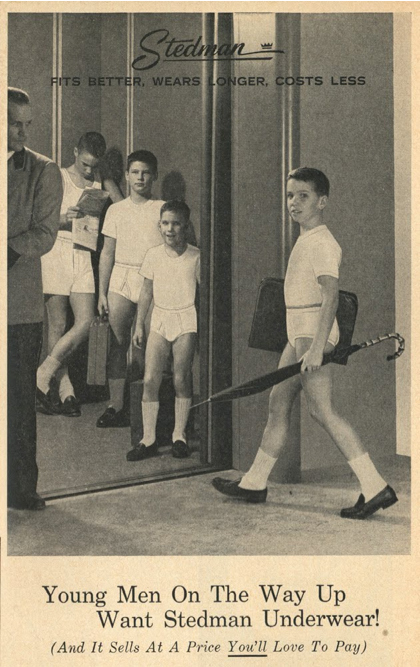 School bags for lads - 1950s Boys Advertise Underwear For An Appreciative Man