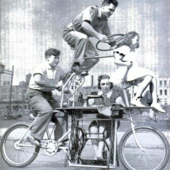 The cycling sewing machine of 1939
