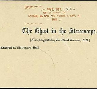 The Ghost in the Stereoscope: Faking it before Photoshop