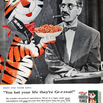 Groucho Marx endorses lightbulb snatching and more