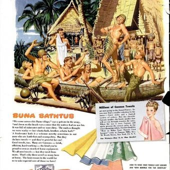Cannon Towels Adverts: For Naked Soldiers and Other Men