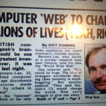 1992: The Sun said the internet would never work