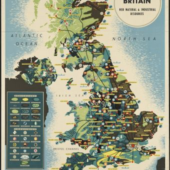 1939: A map of Great Britain and Her Natural and Industrial Resources