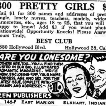 Vintage advert: 300 'pretty girls' for one dollar