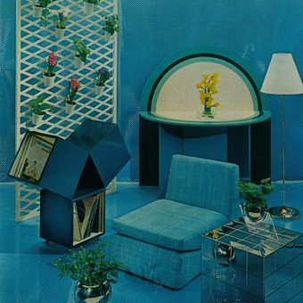 1974: retina-burning interior designs in Women's Day magazine