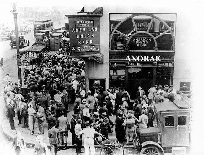 1931 State Superintendent Closes American Union Bank New