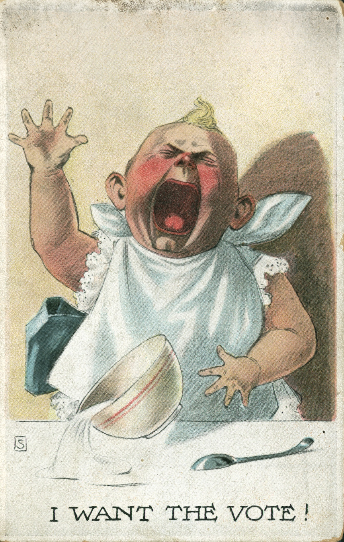 Anti-Suffragette postcard