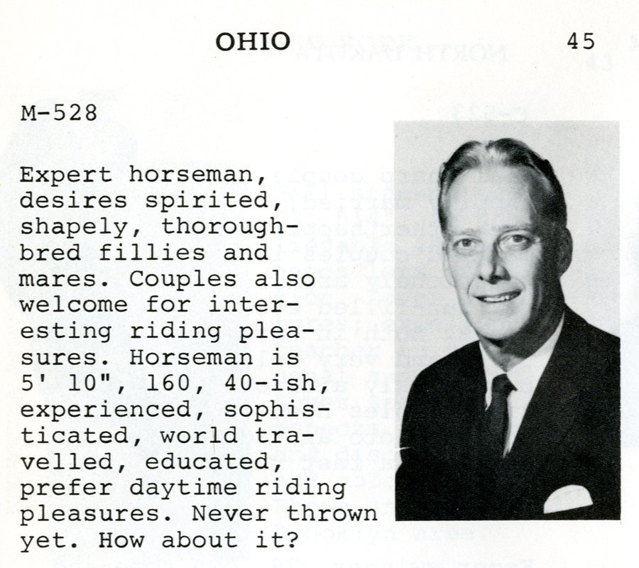 dating profiles 1960s 11