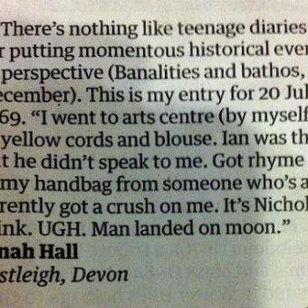 A teenager recalls the Moon Landing (in analogue)