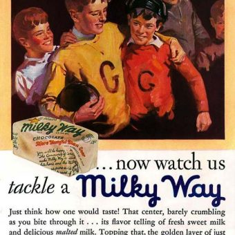 Vintage ads: The Milky Way in 1930