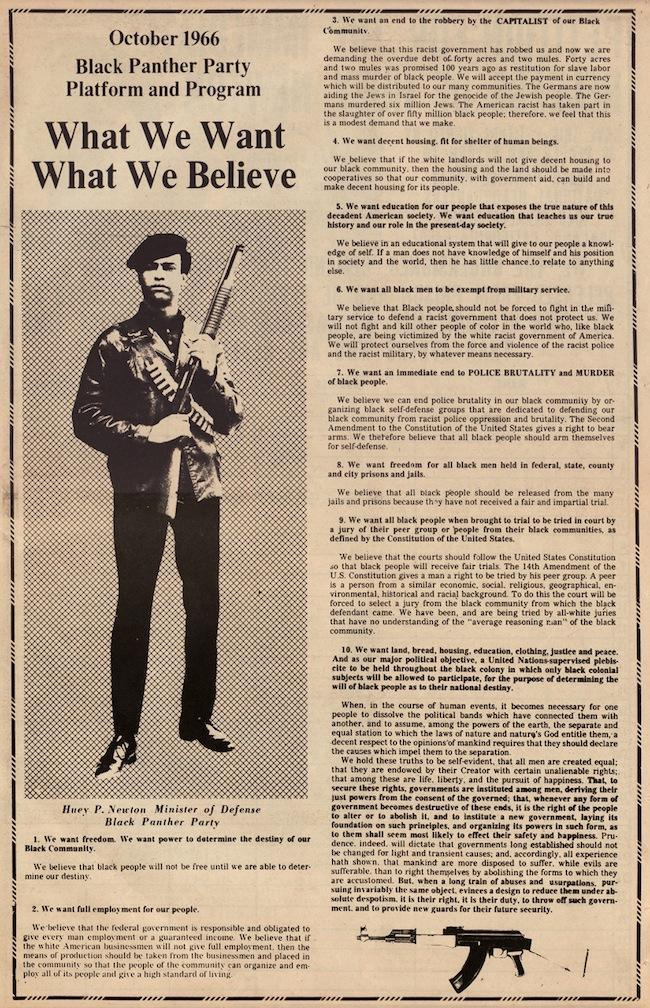 a history of the black panther party for self defense in america