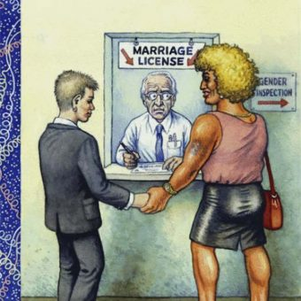 Robert Crumb: the same-sex marriage cover art the New Yorker rejected