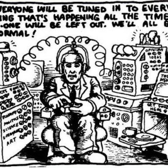 Robert Crumb predicted twitter and the internet (photo)