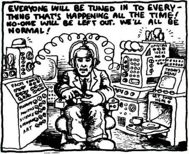 Robert Crumb Predicted Twitter And The Internet Photo