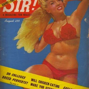Vintage erotica:  Sir magazine covers