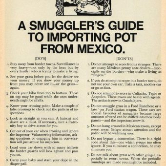 Scanlan's Magazine's Guide to Importing Pot From Mexico And Raising Guerrilla War In The USA