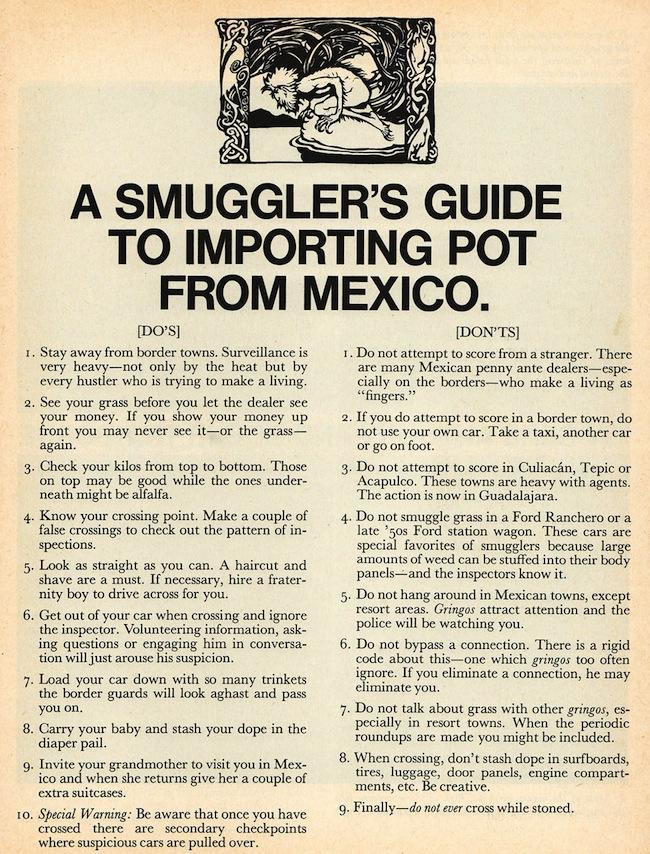 Scanlans Magazines Guide To Importing Pot From Mexico And Raising
