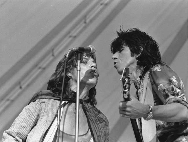 JAGGER RICHARDS STONES CONCERT