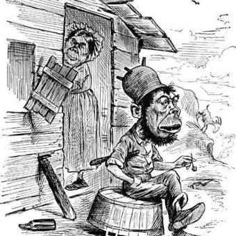 The simian negroid Irish depicted in English and American cartoons