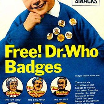 "1970s: Kellogg's Sugar Smacks and ""FREE DR Who Badges!"""