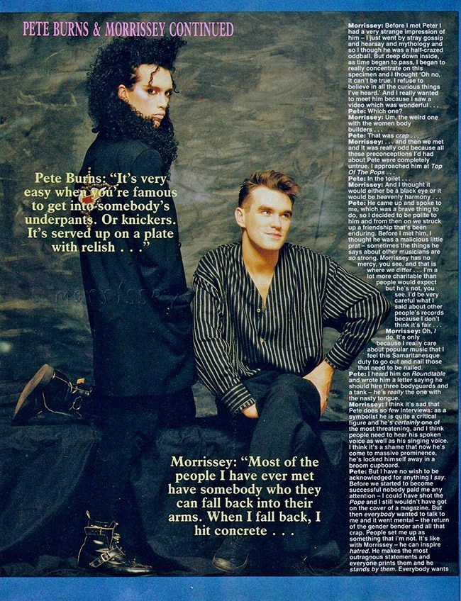Morrissey and pete burns 3