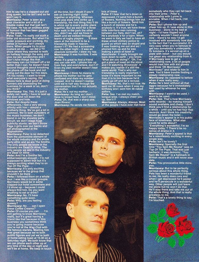 Morrissey and pete burns 4