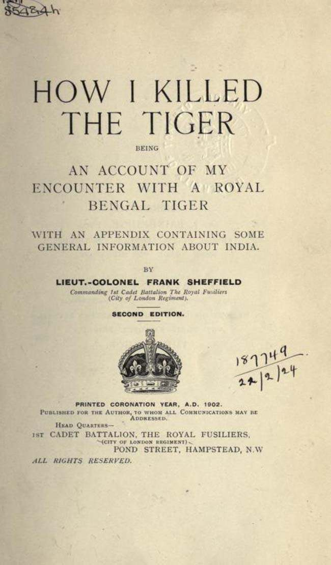 how i killed a tiger cover