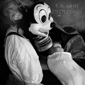The Mickey Mouse gasmask was utterly terrifying in 1942 – and it still is