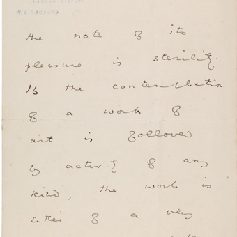 Oscar Wilde Explains His Comment That 'All Art is Quite Useless'