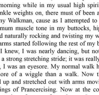 Extracts from Joanna Rohrback's Prancercise (with inner horse video)