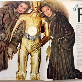 In 1977 Stars Wars characters and Vogue magazine models advertised the wonder of fur coats