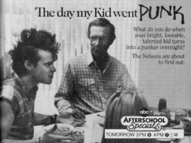 vintage TV kid went punk