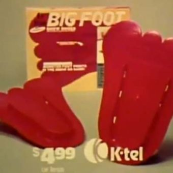The K-tel Bigfoot commercial