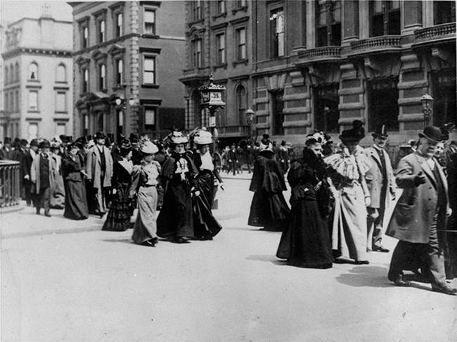 Easter Parade in New York City's Fifth Avenue, circa 1890. (AP Photo/Keystone)