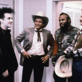 Photo: June 17, 1986 – Boy George appears in an episode of the A Team