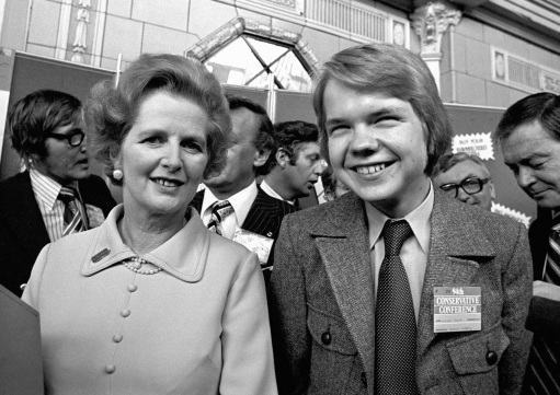 Margaret Thatcher with 16 year old Rother Valley schoolboy, William Hague