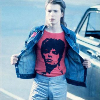 In this 1973 photo Sid Vicious is seen heading to a David Bowie Gig