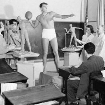 Sexy politicians: Ronald Reagan poses in his knickers