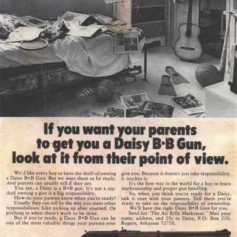 22 Extraordinary Guns for Kids Adverts