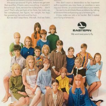 Presenting the Losers: Eastern Airlines 1970s advert for pretty, vacant and sexually available airline stewardesses
