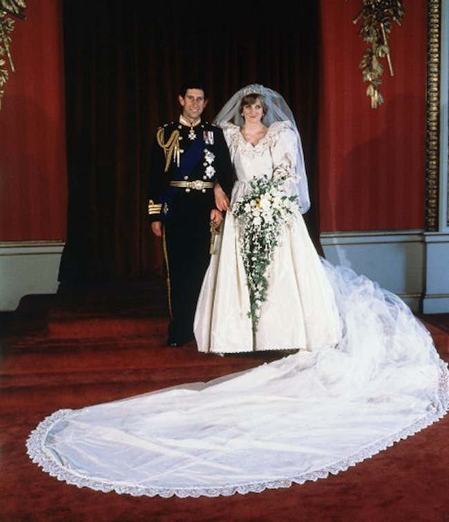 The formal wedding portrait of Prince Charles and Princess of Wales, taken at Buckingham Palace on July 29, 1981, after their marriage at St. Paul?s Cathedral, London. (AP Photo)