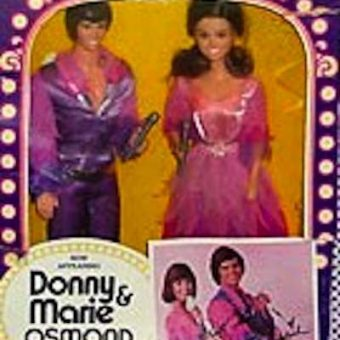 Retro toys: Donny And Marie Osmond action figures, TV studio and adoption kit